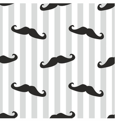 Seamless mustache blue background or pattern vector image vector image
