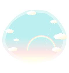 Sky Rainbow Cartoon vector image