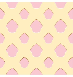 Abstract pink cupcake seamless pattern vector image