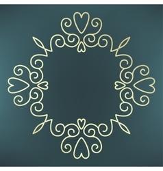 calligraphic frame mono line vector image