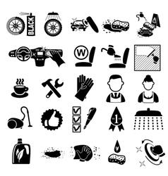 Car wash icons set vector image vector image