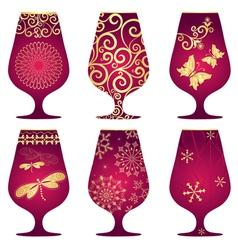 Christmas glasses vector image