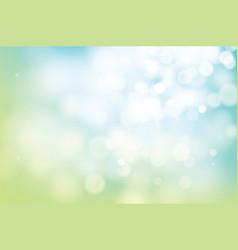 hello spring green bokeh blur abstract background vector image vector image