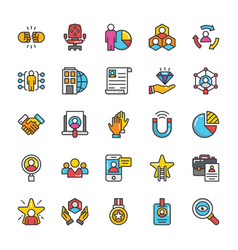 Human resource icons set 5 vector