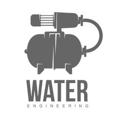 logo water gas engineering plumbing vector image vector image
