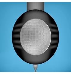 Black headphones side view vector image