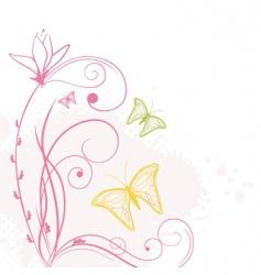 cute butterflies vector image vector image