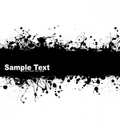 grunge banner ink vector image vector image