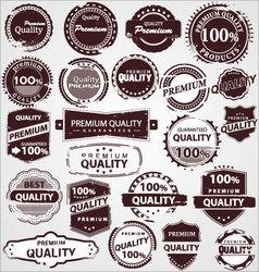 grunge vintage quality labels vector image vector image