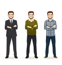 Set of man in different clothes vector image