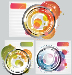set of Modern Abstract Backgrounds vector image