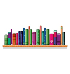 A shelf full of books vector image