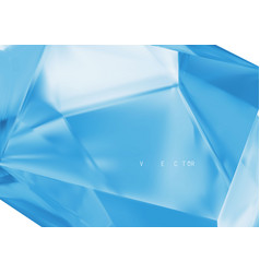 abstract blue background from crystal vector image