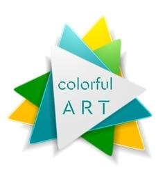 Abstract bright triangle logo design vector