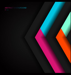 abstract vibrant color triangle geometric overlap vector image