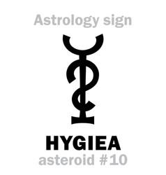 Astrology asteroid hygiea vector