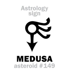 Astrology asteroid medusa vector