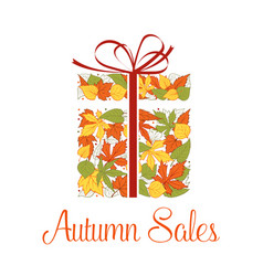 autumn sale promotion banner vector image