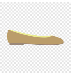 Ballet shoe icon flat style vector