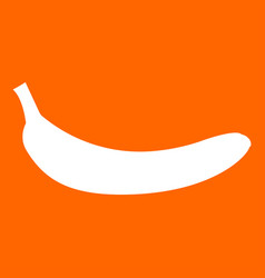Banana white icon vector