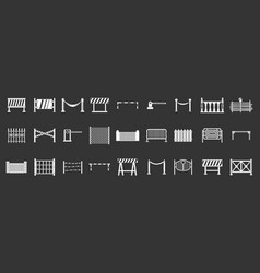 barrier icon set grey vector image