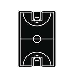Basketball court field icon vector