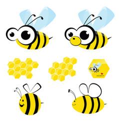 bee sweet with honey cartoon vector image