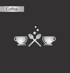 Black and white style icon cups coffee vector