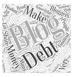 Blogging consolidation debt and new information vector