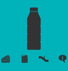 Bottle icon flat vector