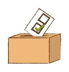 Box of vote icon vector