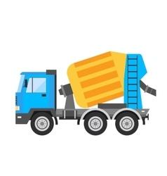 Building under construction cement mixer machine vector image