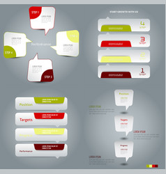 Business economy infographic elements information vector