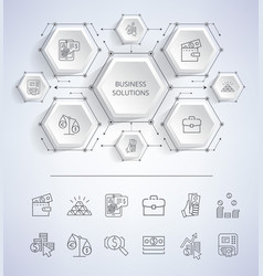 Business solutions infographic vector