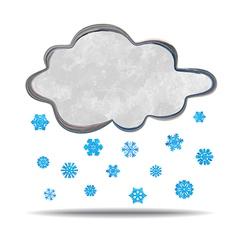 Climate cloud snowing vector