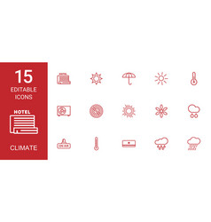 climate icons vector image