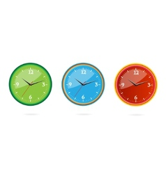 colored and creative classic clocks set vector image vector image