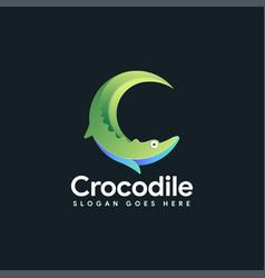 Crocodile logo icon letter c for crocodile vector