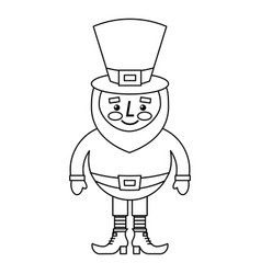 cute cartoon leprechaun st patricks day mascot vector image