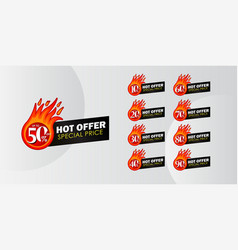 Discount up to 50 off hot offer special price vector