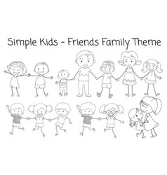 doodle family member vector image