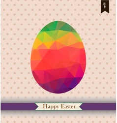Easter greeting card with place for your text vector image