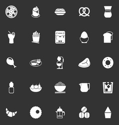 Easy meal icons on gray background vector