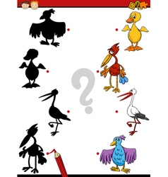 educational shadows task cartoon vector image