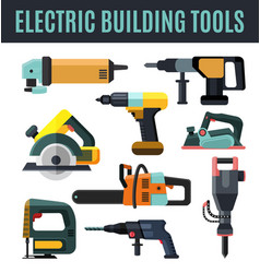 electric building tool vector image