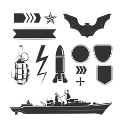 Elements for army airforce and navy vector