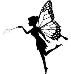 Fairy waving her wand vector