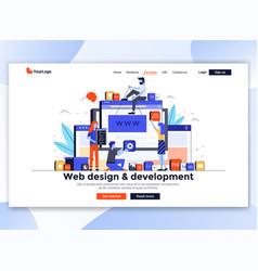 Flat modern design website template - web vector
