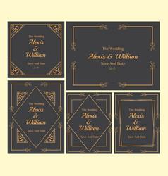 Floral wedding invitation-12 vector