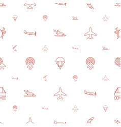 fly icons pattern seamless white background vector image